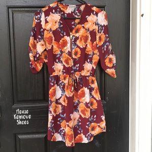 Floral zipper dress